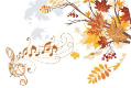 fall music notes
