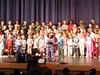 Students in choir performing