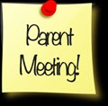 post-it note announcing parent meeting