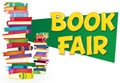 book fair with stack of books