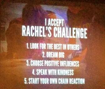 Words I accept Rachel's Challenge