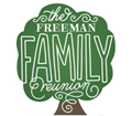 clipart which says the freeman family reunion