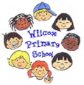 pictre of cartoon students heads and wilcox primary school text.