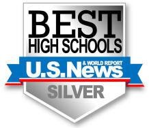 US News and World Report Best High Schools Silver Medal clipart