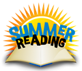 sun and book with words summer reading