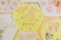 art work which says bee nice recycle