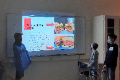 students presenting food for the future presentation