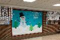 snowman on bulletin board