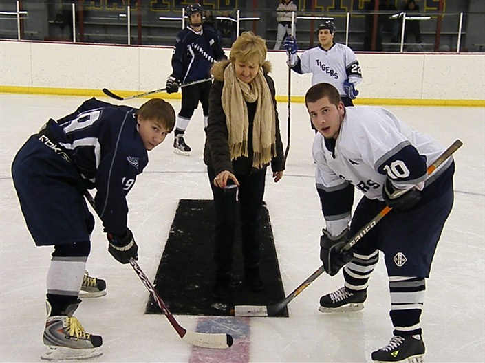 Mayor Procop drops the first puck!