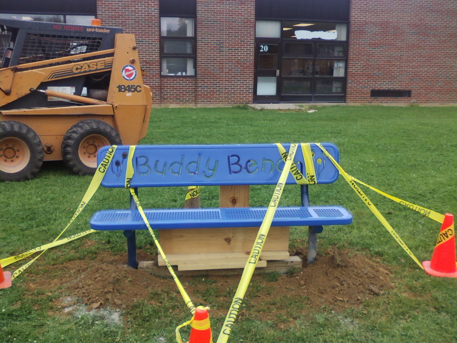Installing our new Buddy Bench 2