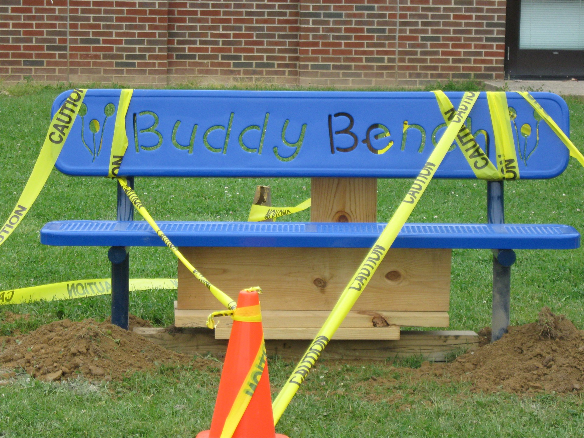 Installing our new Buddy Bench1