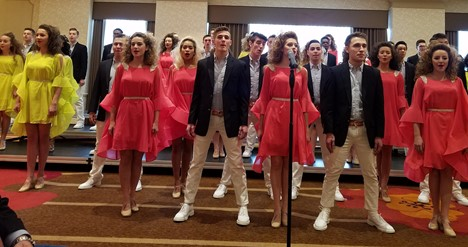 Great Expectations Twinsburg High School Show Choir performing at Twinsburg Chamber Holiday Luncheon