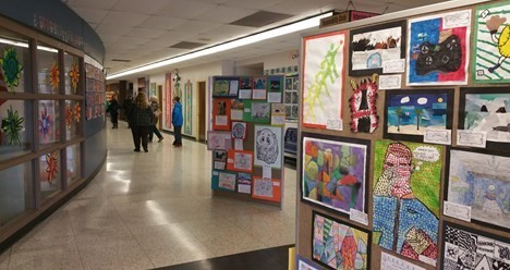 displays of student artwork