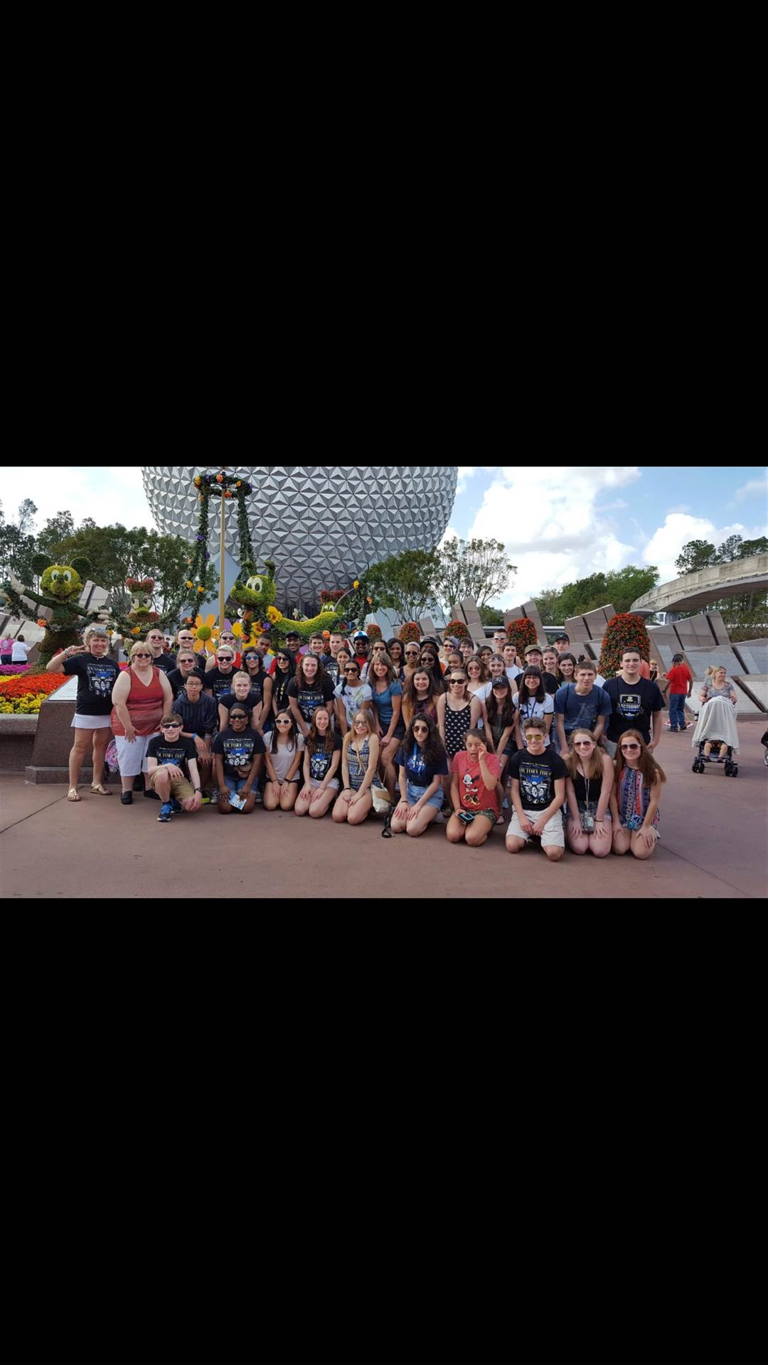 Twinsburg Orchestra in front of Epcot park.