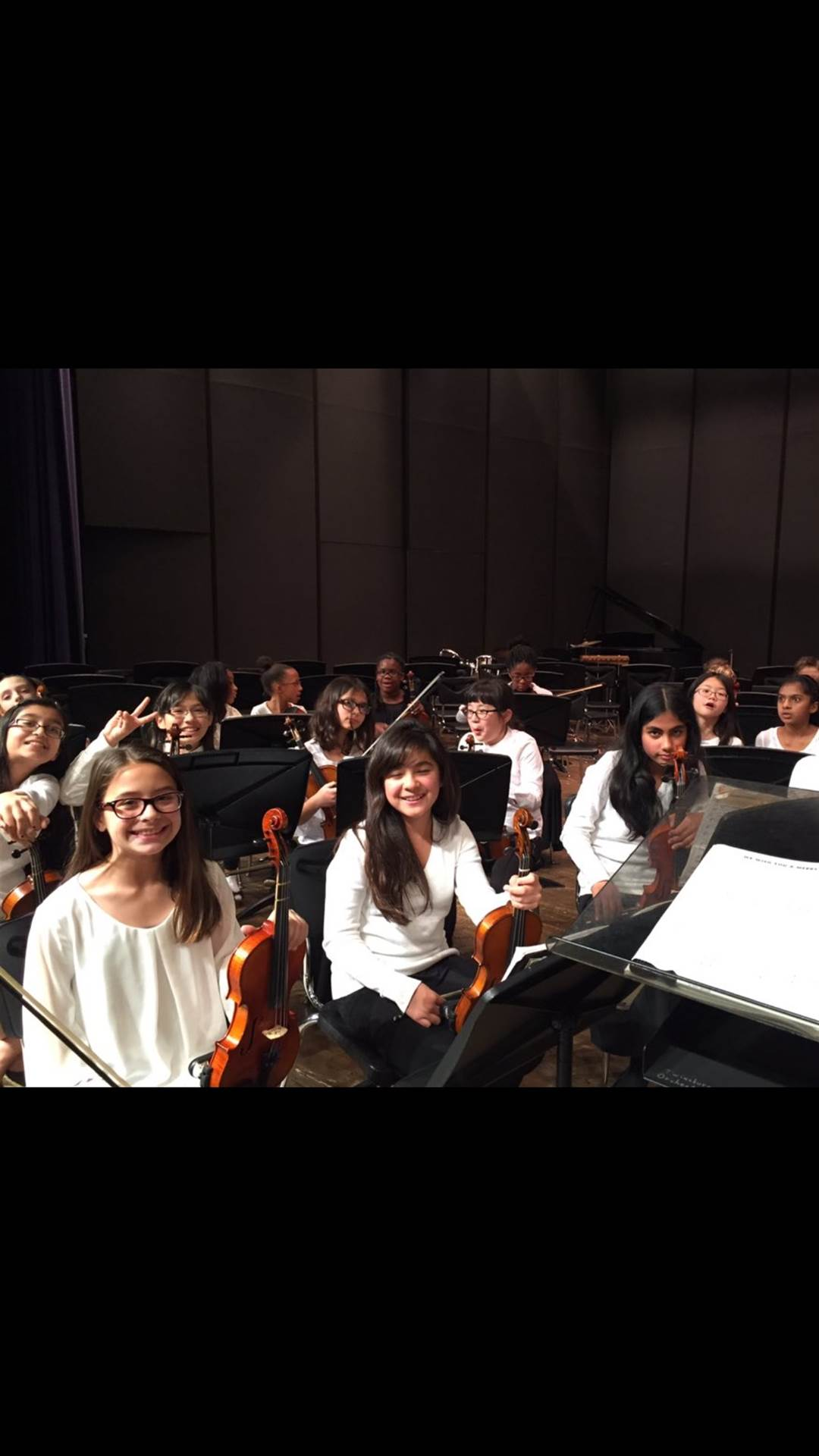 Students waiting to perform.