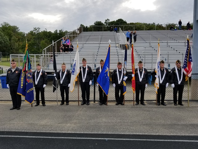 Color Guard with flags