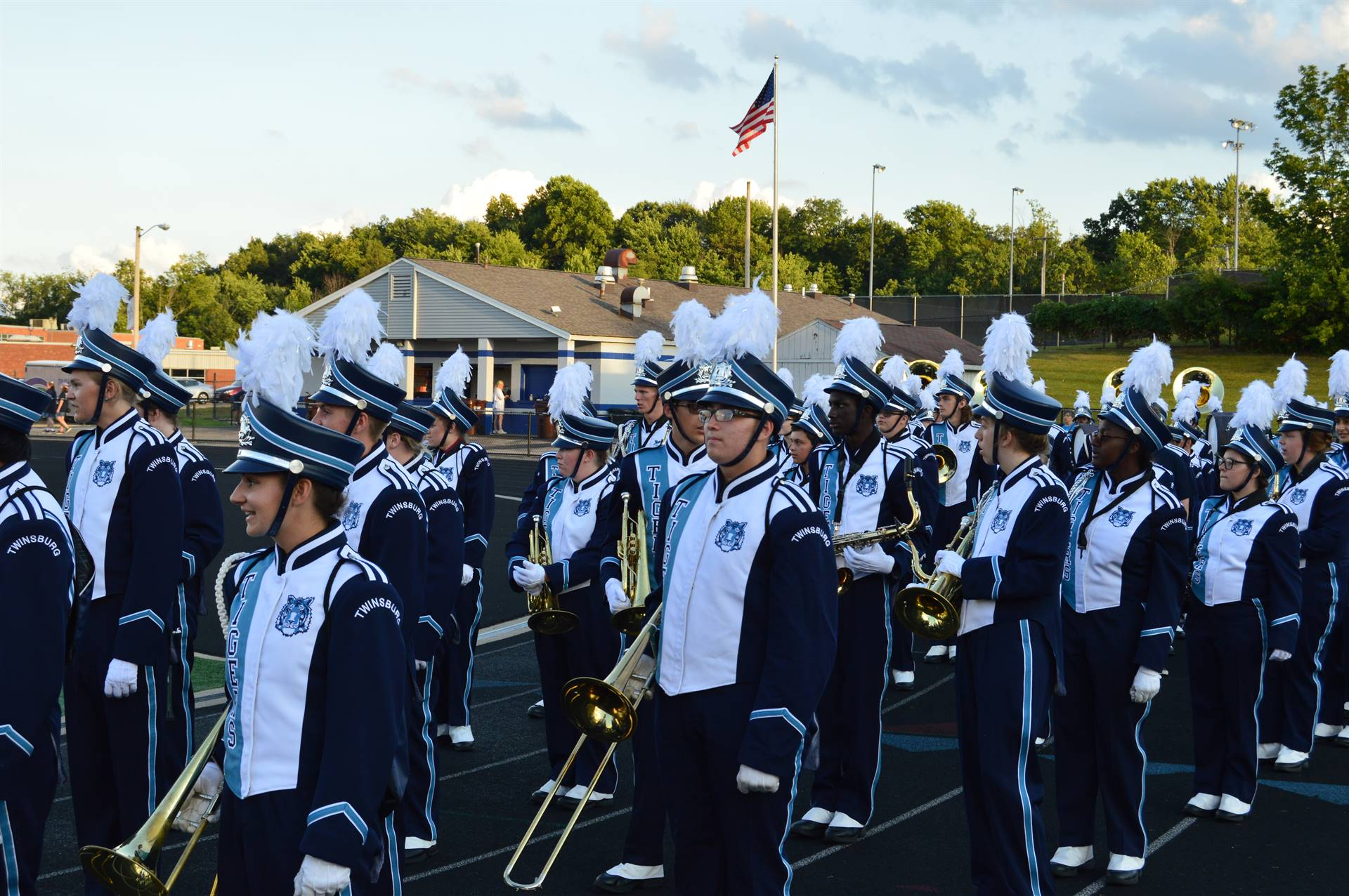 Band Students Marching
