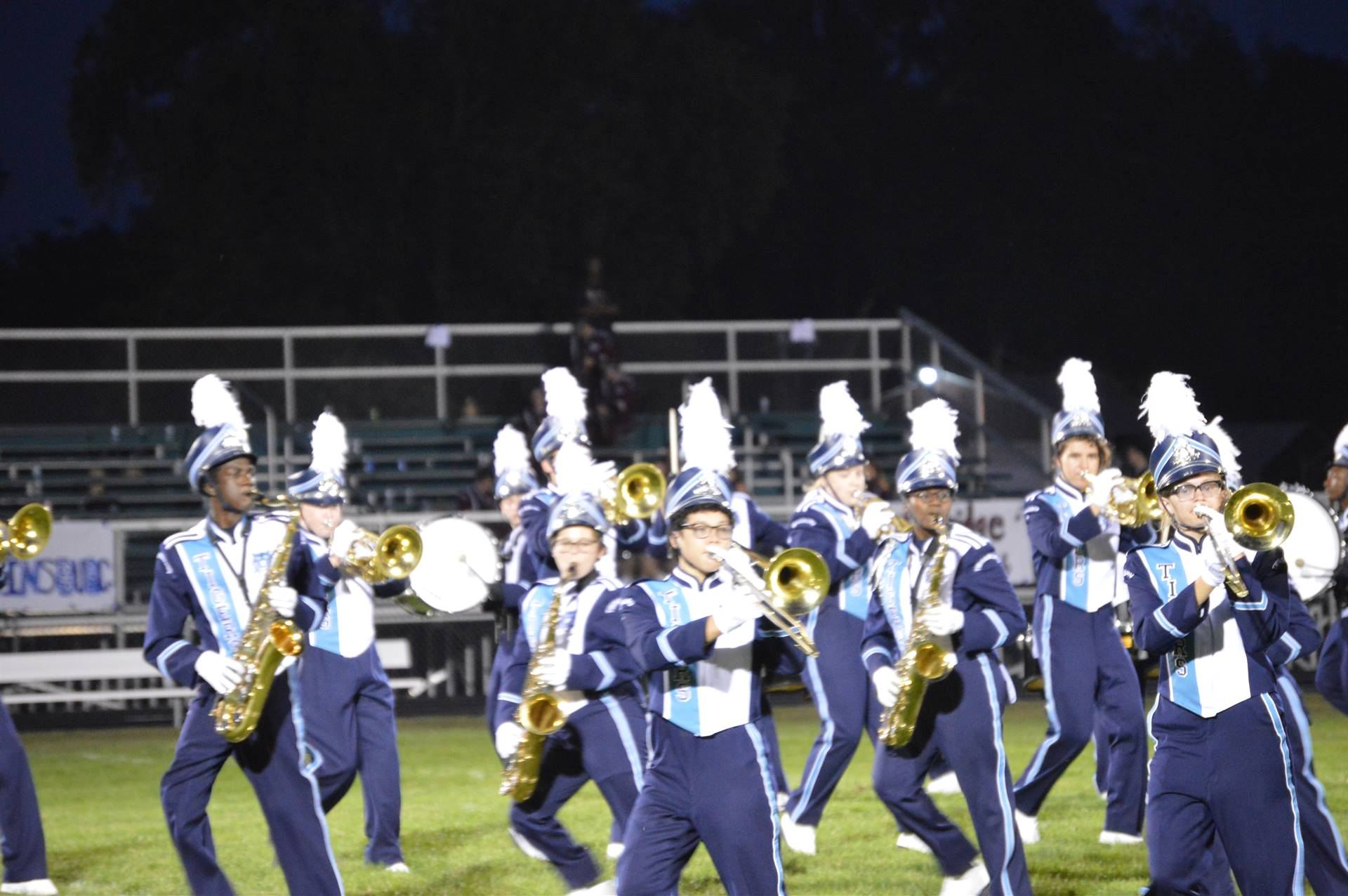 Band Students Marching at Mogadore Band Show