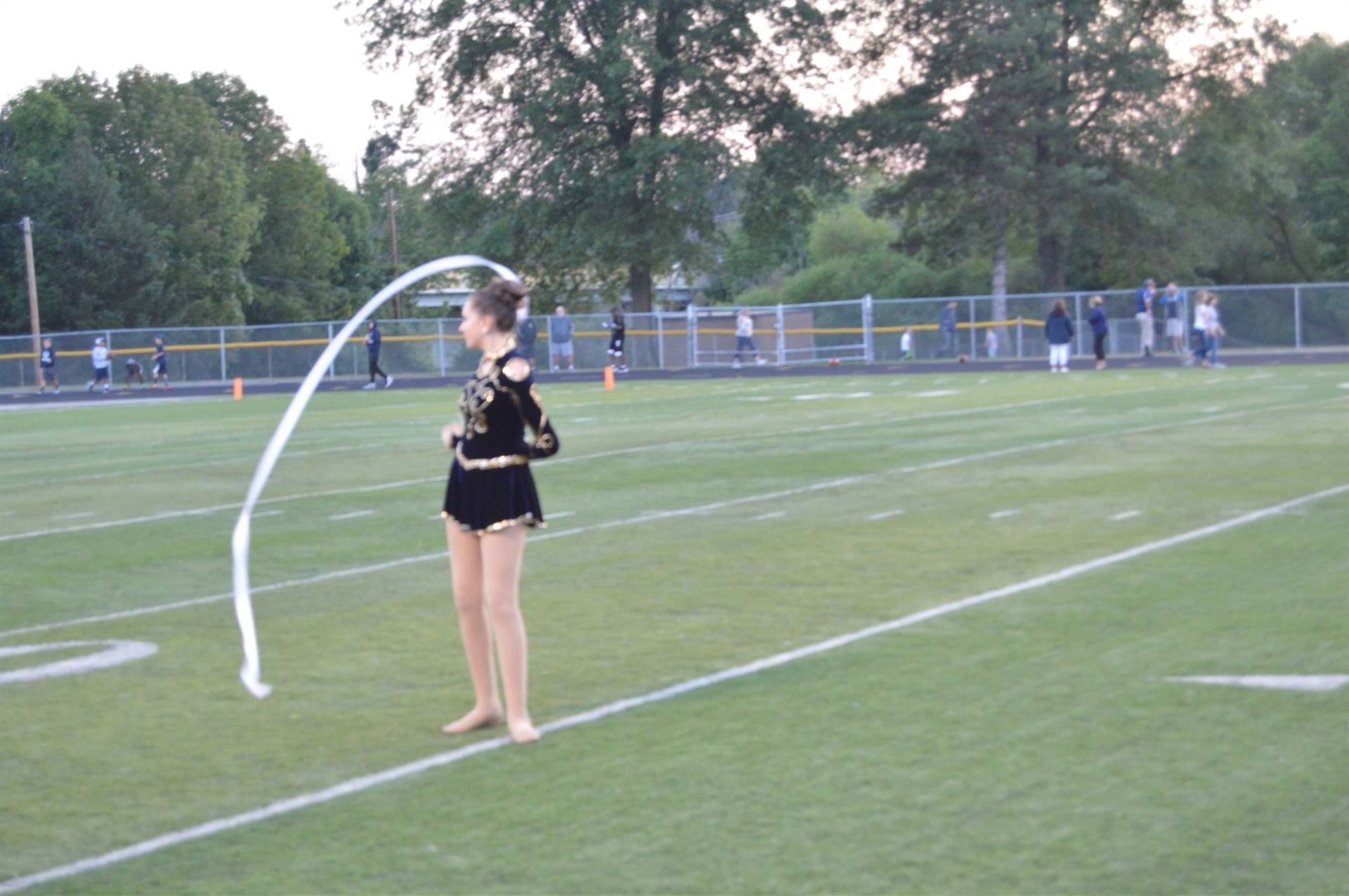 Drill Team Member with Ribbon
