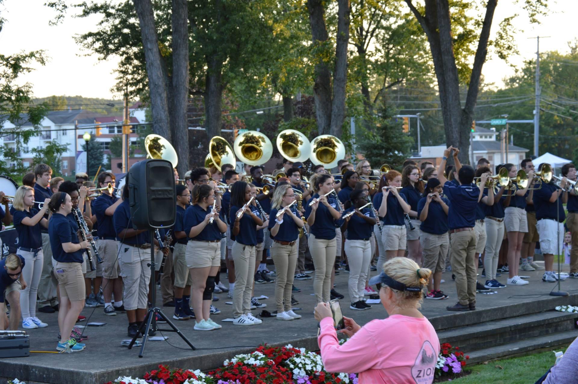 Band Performing at Bicentenial