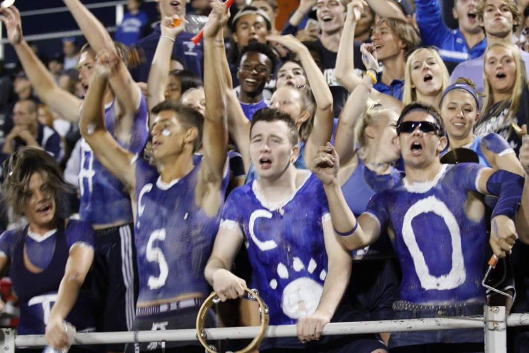 Student section cheering
