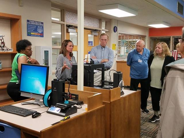 Senior citizens learn about Makerspace