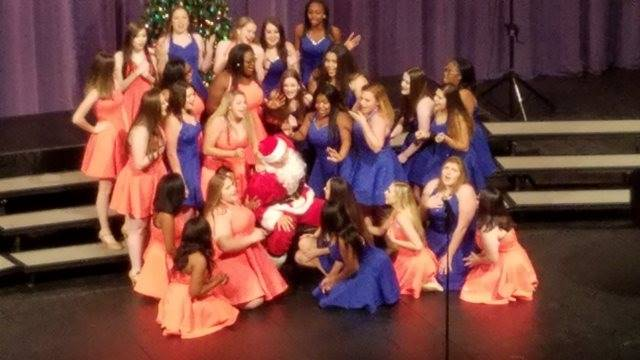 choir students performing on stage