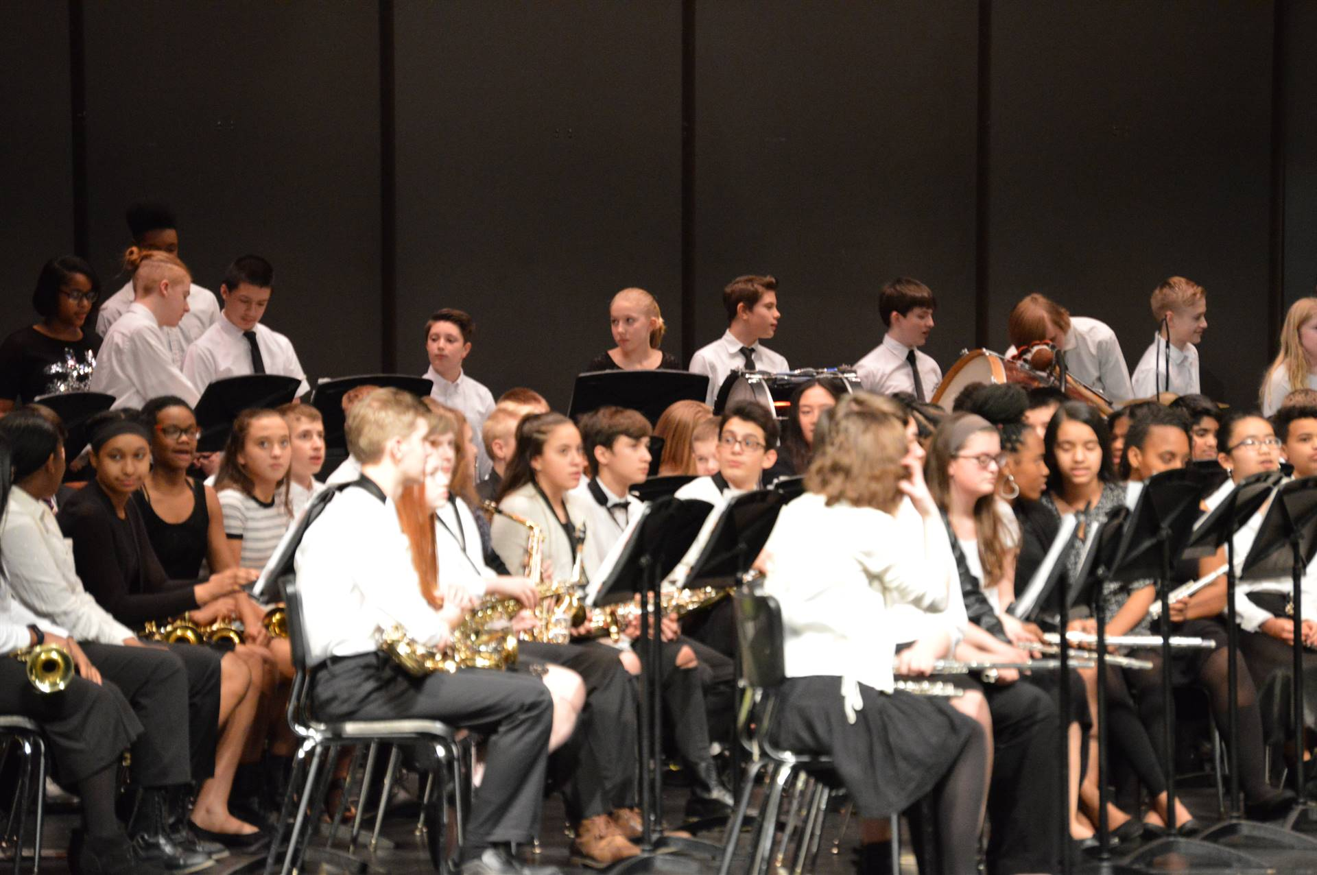 RBC Band Students on stage for a concert