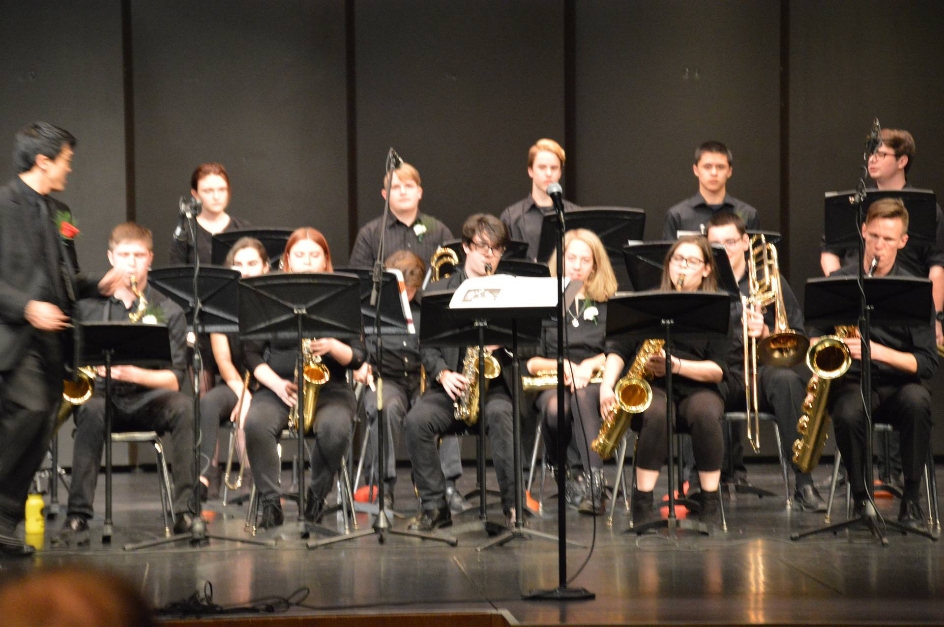 THS Jazz Band on  stage