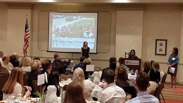 Students presenting Iditarod language arts project