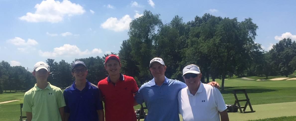 Golfers at Firestone