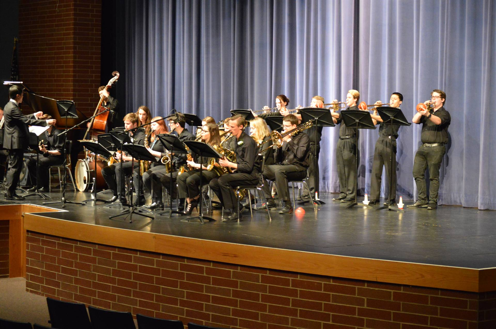 Jazz Band on stage performing