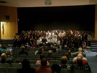 students performing in a choir