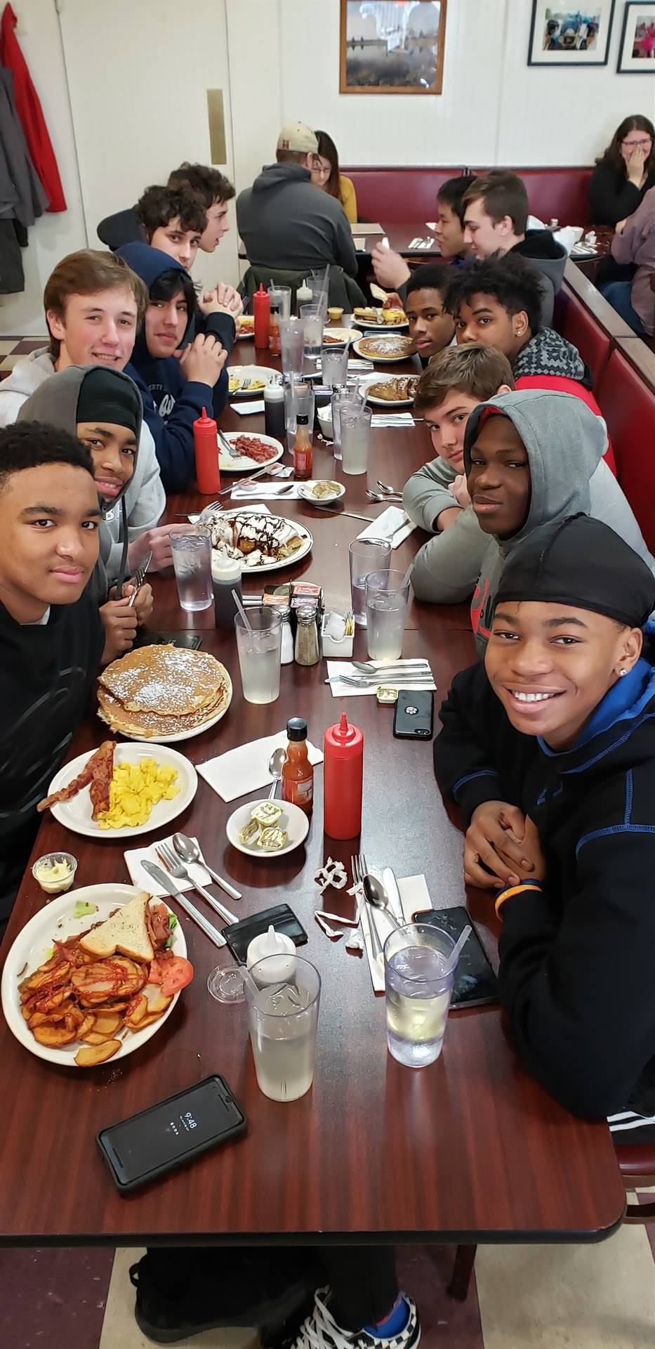 Blue Dawn 1:  Players enjoying breakfast after a great morning of competing.