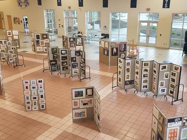 student artwork display