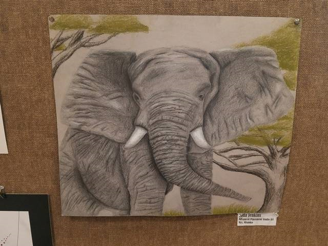 painting of an elephant