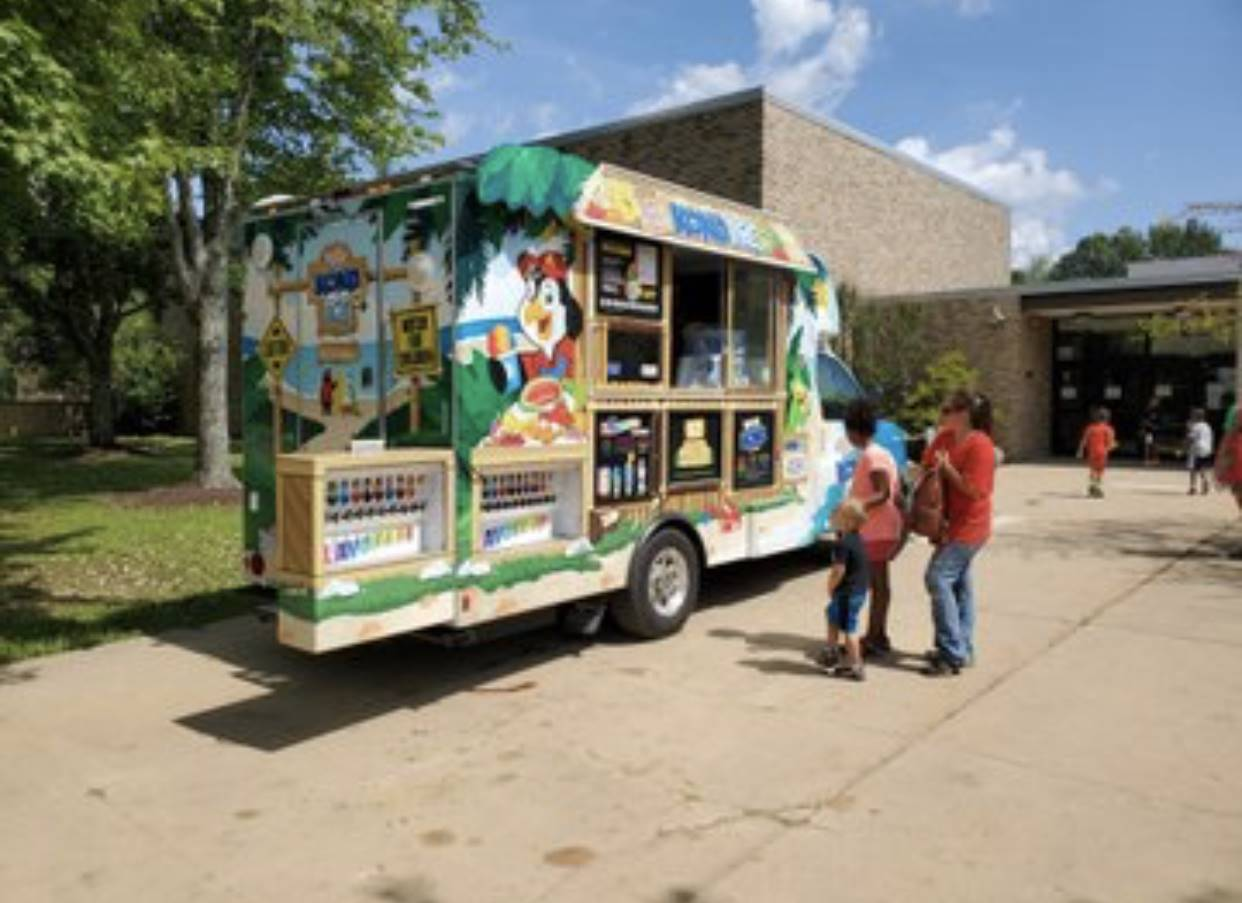 Kona Ice at Staff's Welcome Back Luncheon