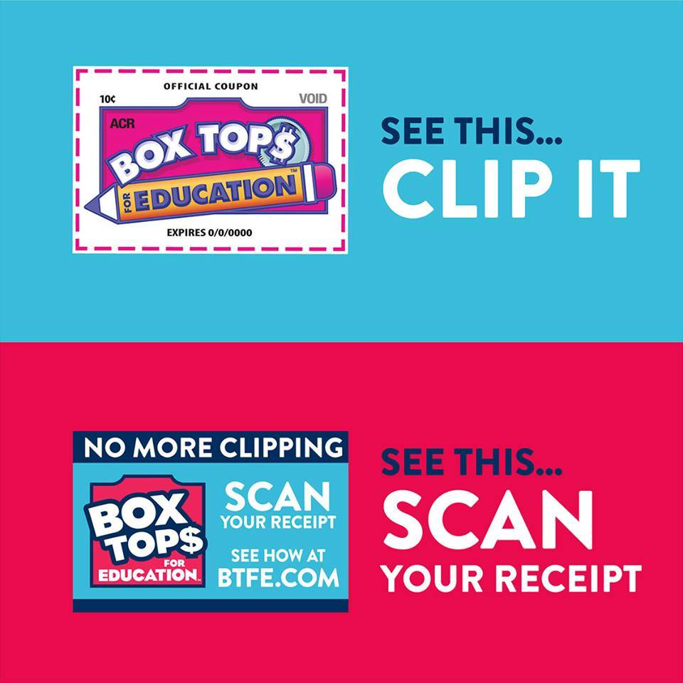 Box Tops See this... Clip it. No more clipping. See this Scan your receipt