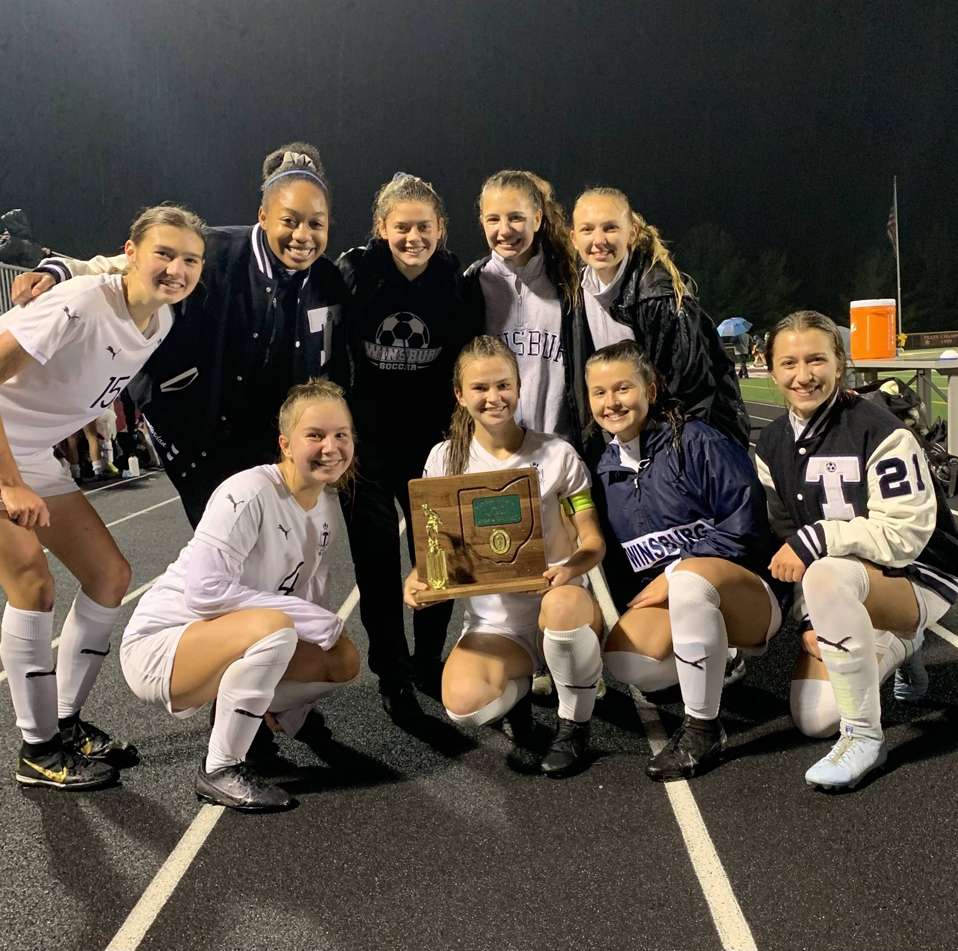 2020 Seniors with the District Championship Trophy