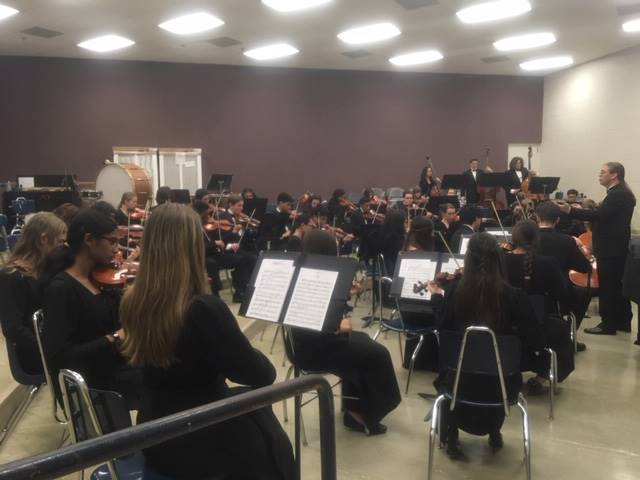 Twinsburg Orchestra Warming Up