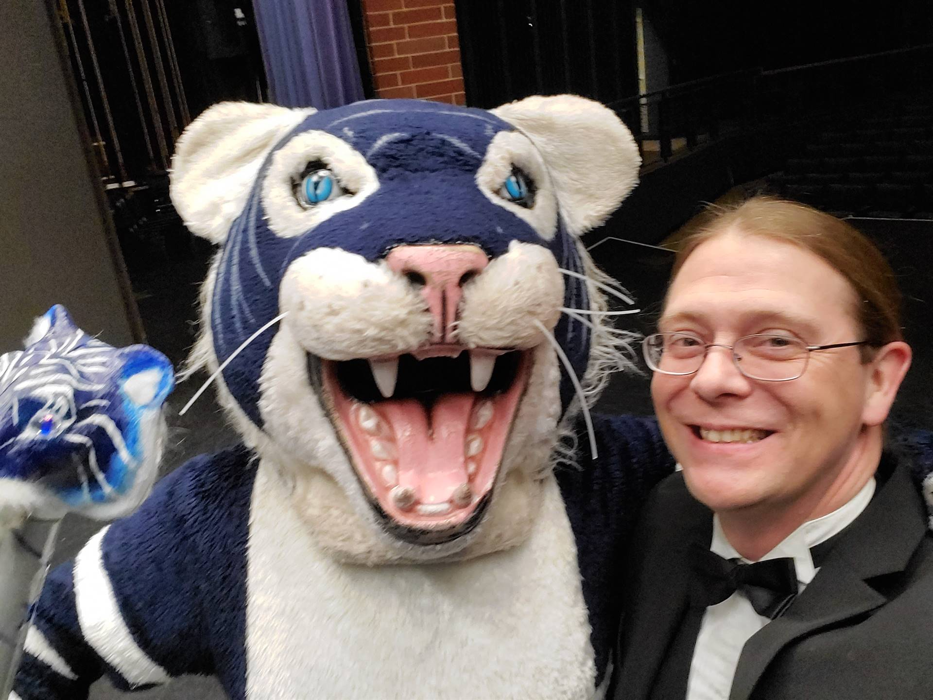Mr. Conn and Twinny the Tiger