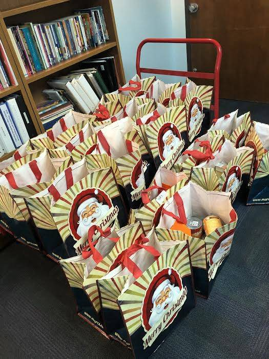 donations in reusable bags