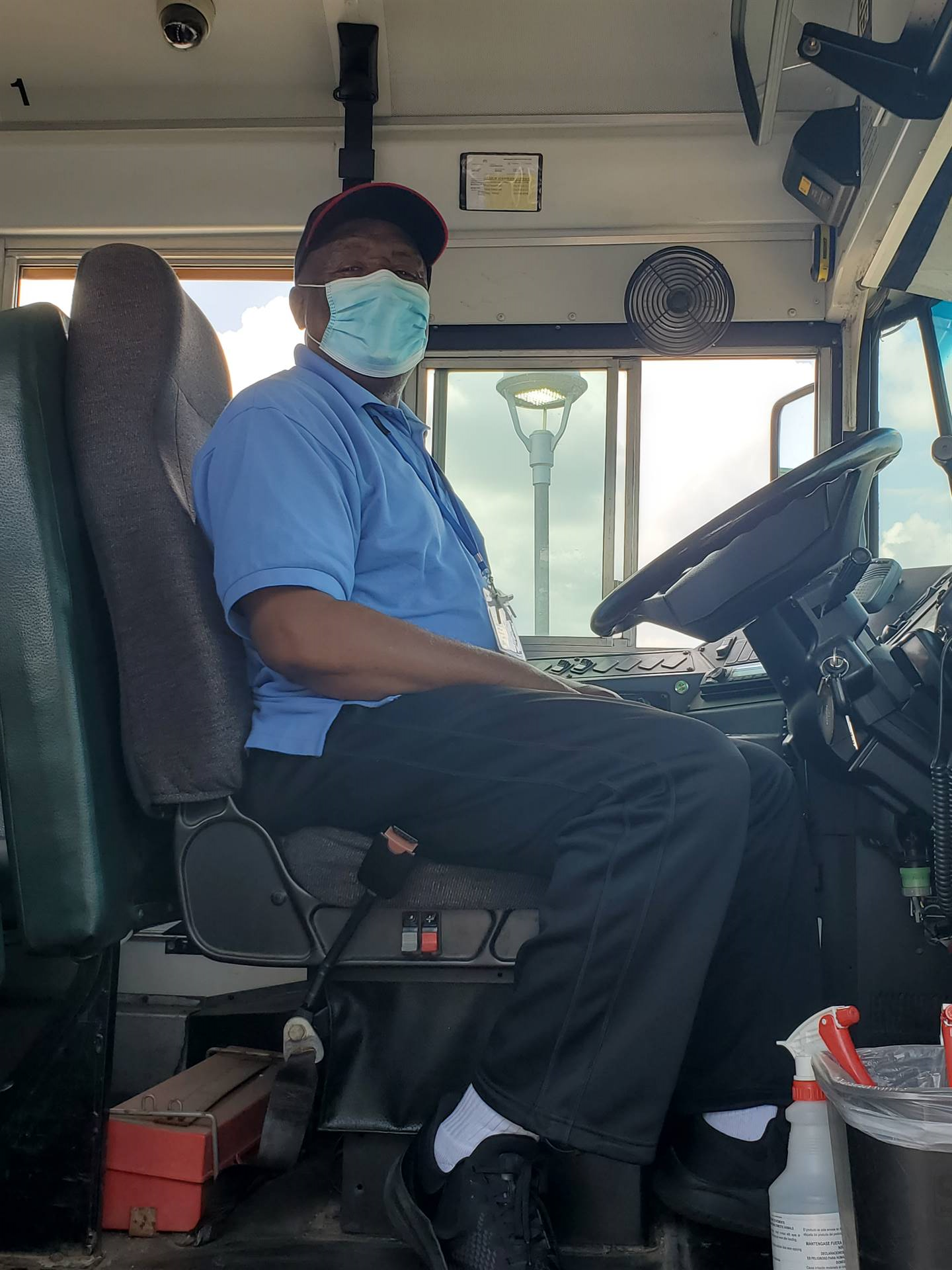 bus driver sitting in the bus