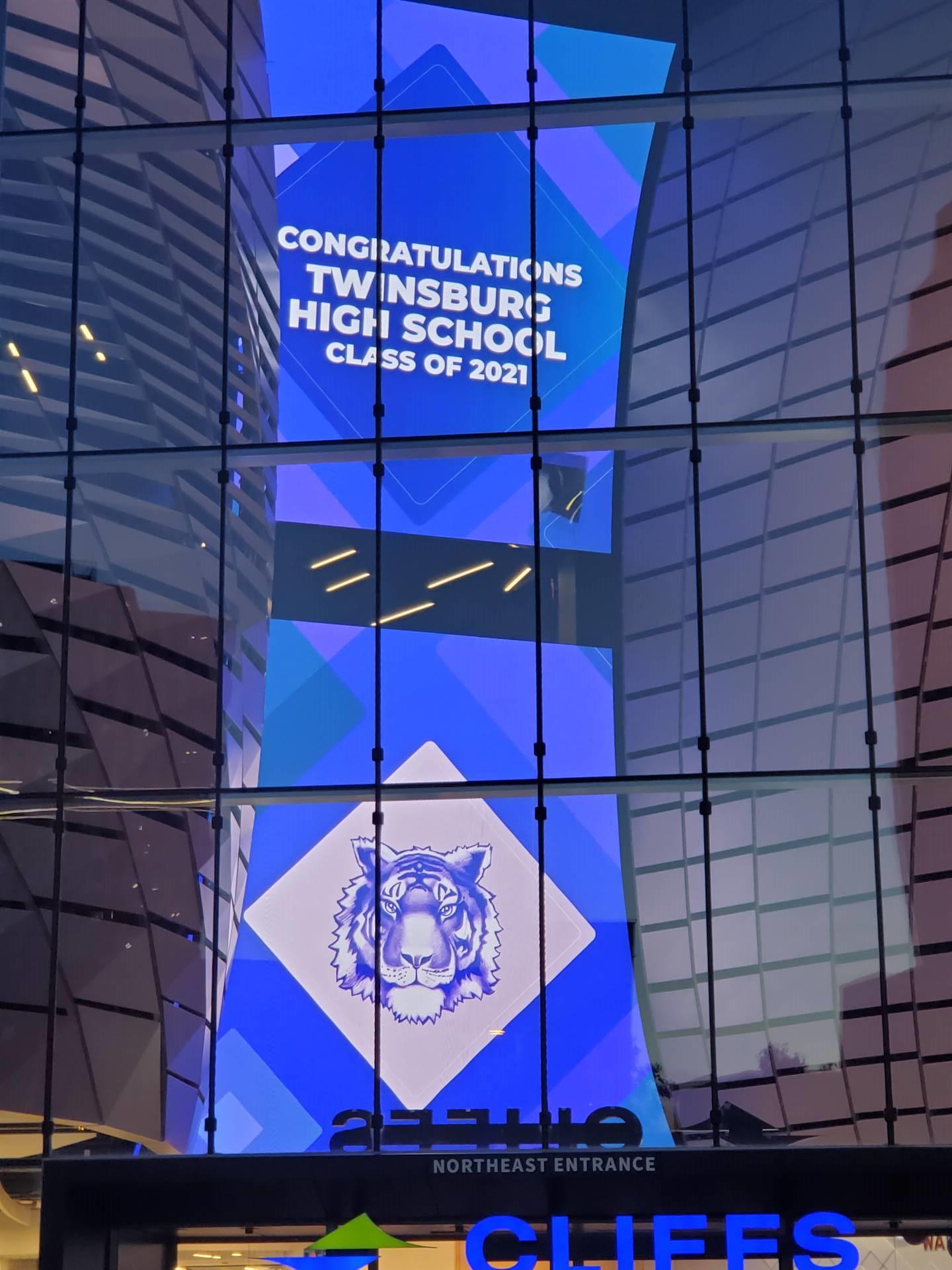 sign Congratulations Twinsburg High School Class of 2021
