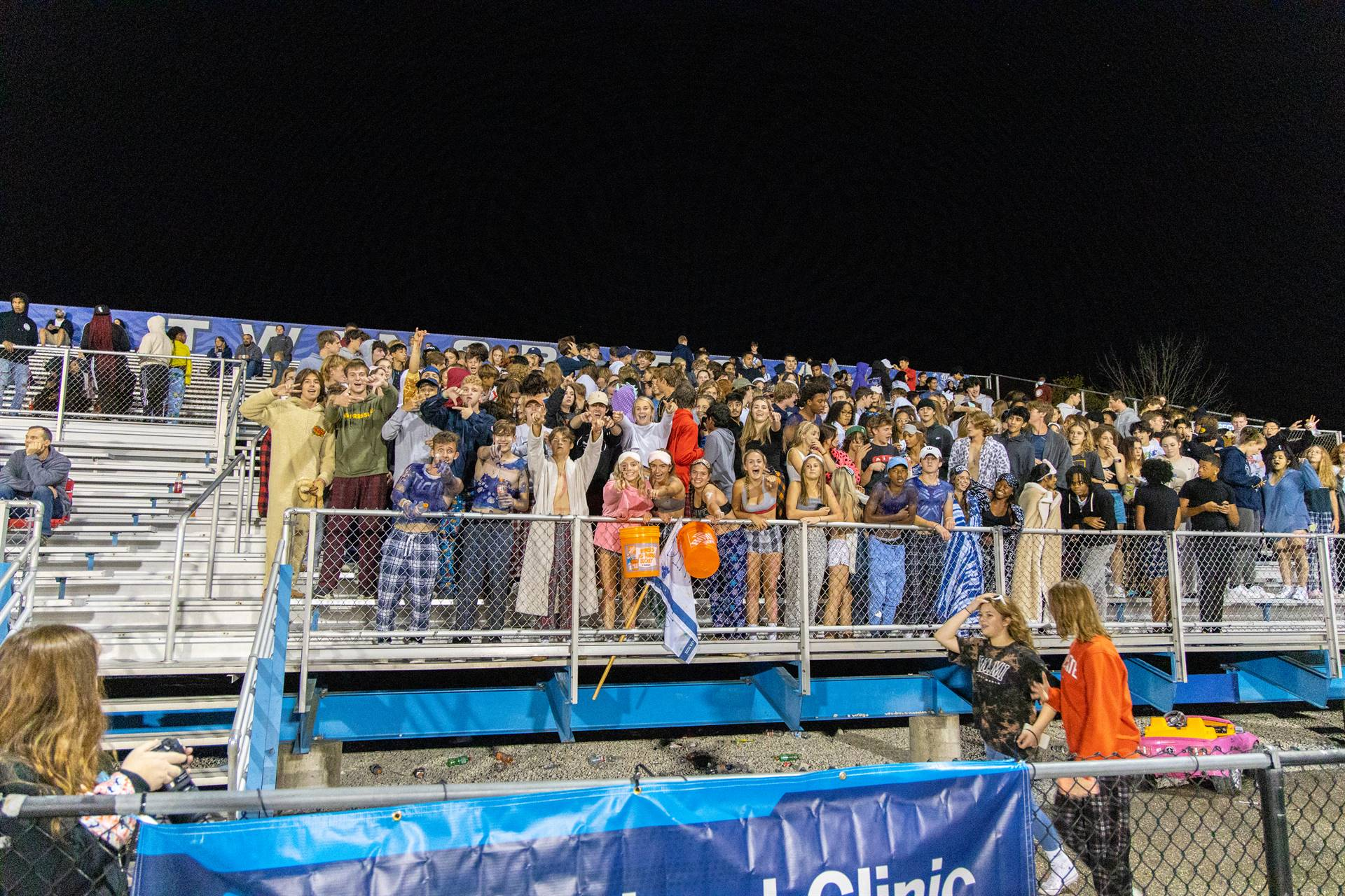 The student section cheering load!