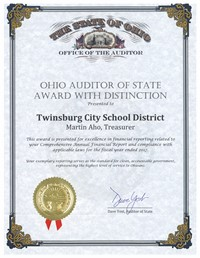 Picture of Auditor of State Award